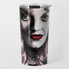 Sylvia Plath_Pink Blue Travel Mug