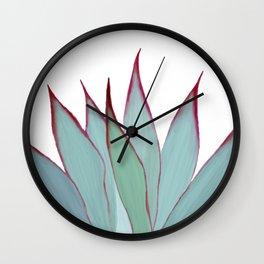 Elegant Agave Fringe Illustration Wall Clock