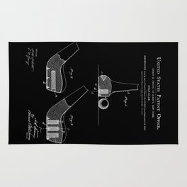Golf Club Patent - Black Rug