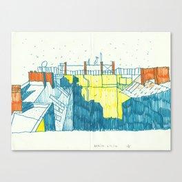 Berlin: first snow Canvas Print