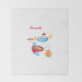 Abominable Snowflakes Throw Blanket