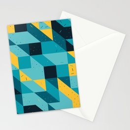Modular tiles Stationery Cards