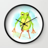 phil jones Wall Clocks featuring Pegleg Phil by Taylor Winder