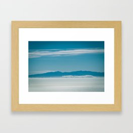 Somewhere Over the Clouds Framed Art Print