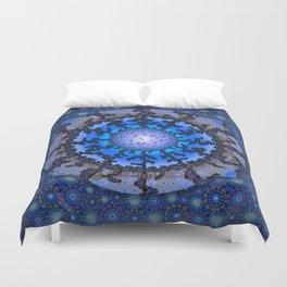 Blue Violet Thangka Duvet Cover