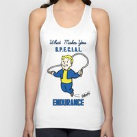 fallout 3 Tank Tops featuring Endurance S.P.E.C.I.A.L. Fallout 4 by sgrunfo
