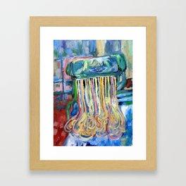 Ramen Is Religion, Oil On Canvas Framed Art Print