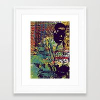 biggie Framed Art Prints featuring BIGGIE by Jeremy Richie