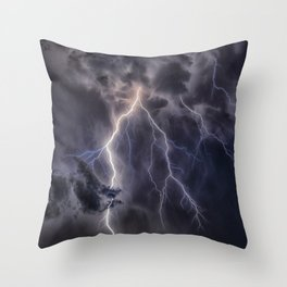 Stormy Weather - Purple Throw Pillow