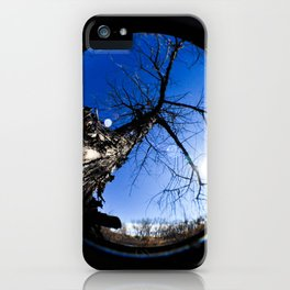 An Old Tree Through A Fisheye Lens iPhone Case