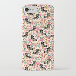 Dachshund dapple coat dog breed floral pattern must have doxie gifts dachsies iPhone Case