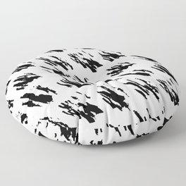 Polka Splotch Black Ink on Paper Floor Pillow