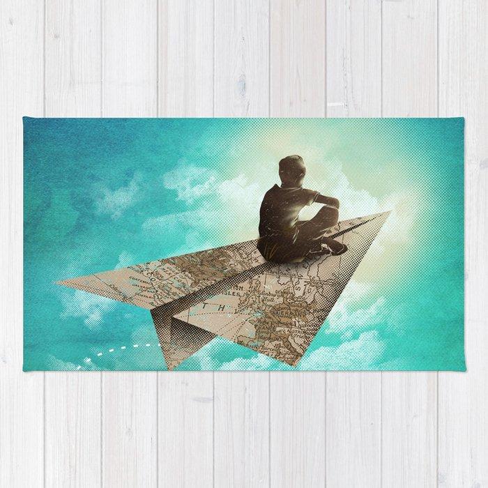 Paper Aeroplane Rug