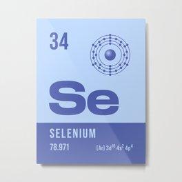 Periodic Element A - 34 Selenium Se Metal Print