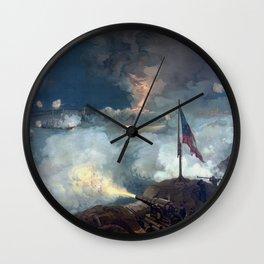 The Battle of Port Hudson Wall Clock