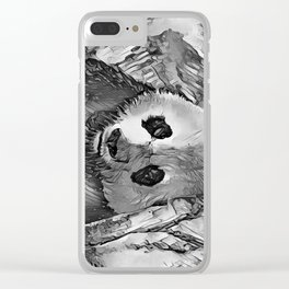 AnimalArtBW_Panda_20170602_by_JAMColorsSpecial Clear iPhone Case