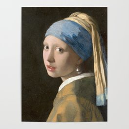 Johannes Vermeer - Girl with the pearl earring (1665) Poster