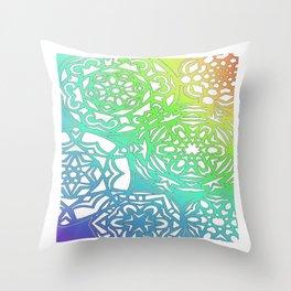Nieve del Arco Iris Throw Pillow