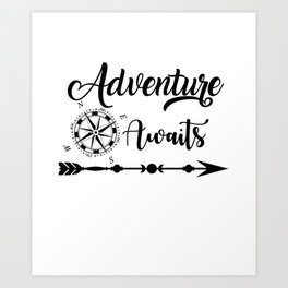 Camping adventure Art Print