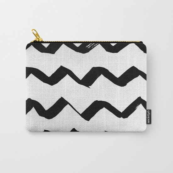 Ink Chevron Carry-All Pouch