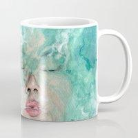 breathe Mugs featuring Breathe by Pendientera