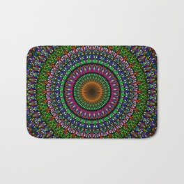 Hypnotic Church Window Mandala Bath Mat