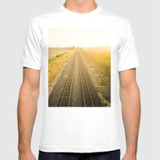 Central California  Mens Fitted Tee MEDIUM White