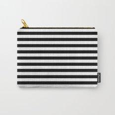 Modern Black White Stripes Monochrome Pattern Carry-All Pouch