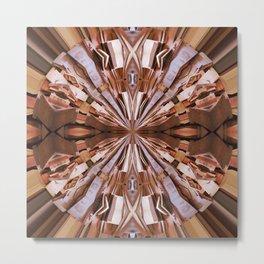 313 - Abstract Wood design Metal Print