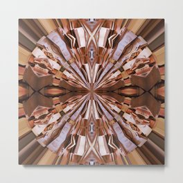 313 - Abstract Wood design Metal Print