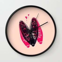 moccasin heart Wall Clock