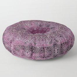 Vintage Merlot Lace Mandala Floor Pillow