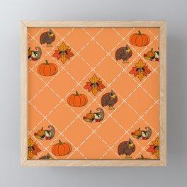 Thanksgiving Pattern Framed Mini Art Print
