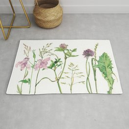 the daily creative project: grasses and herbaceous herbs Rug