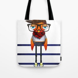 Hipster Bird Tote Bag