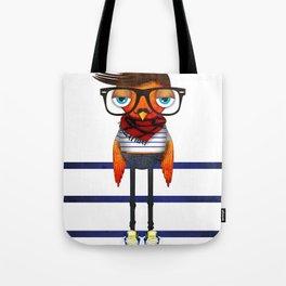 Hipster Bird Tote Bag