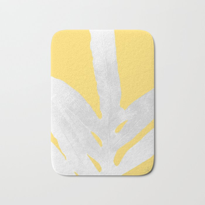 Ferns and Tangerines Bath Mat