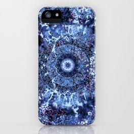 Iris Mandala Blue iPhone Case