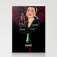 coca cola Stationery Cards featuring COCA-COLA by Bianca Lopomo