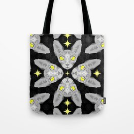 Sphynx Cat Black Pattern Tote Bag