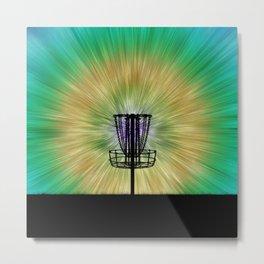Tie Dye Disc Golf Basket Metal Print