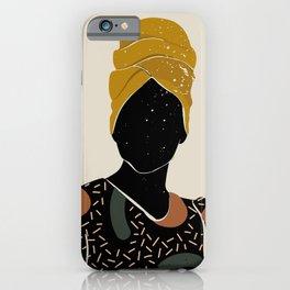 Black Hair No. 10 iPhone Case