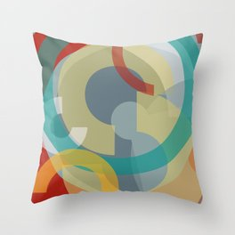 Cores em Semicírculos-6 Throw Pillow