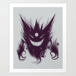 Mega Ghost Art Print