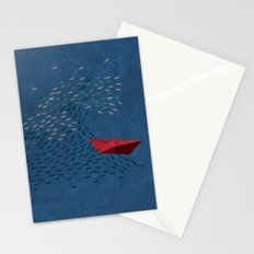 Origami Wave Stationery Cards
