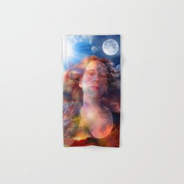 Day and Night Portrait Hand & Bath Towel