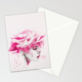 Head Up In The Clouds (pink ver.) Stationery Cards