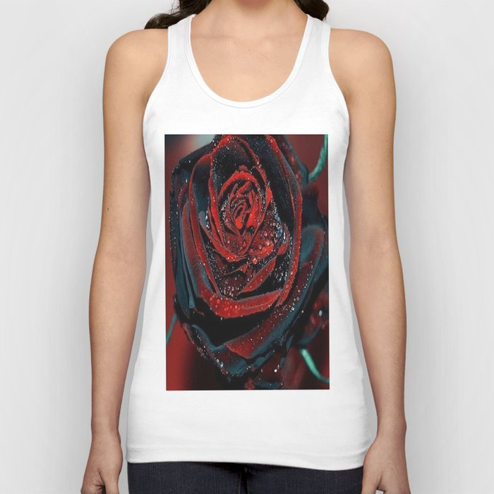 BLACK ROSE  Unisex Tank Top