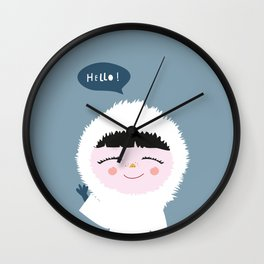 Cute little Eskimo Wall Clock