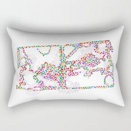 Prismatic Life Maze Rectangular Pillow